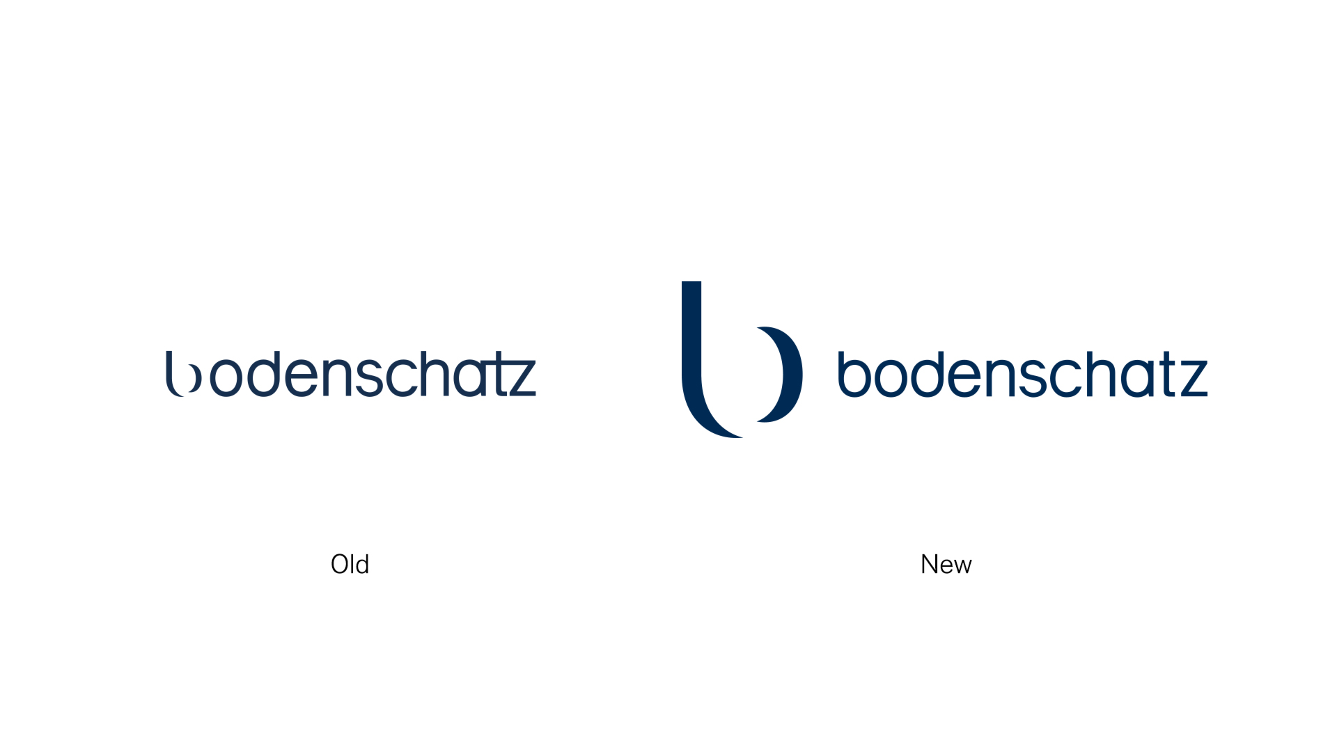 From the old logo to the new one designed by Vetica