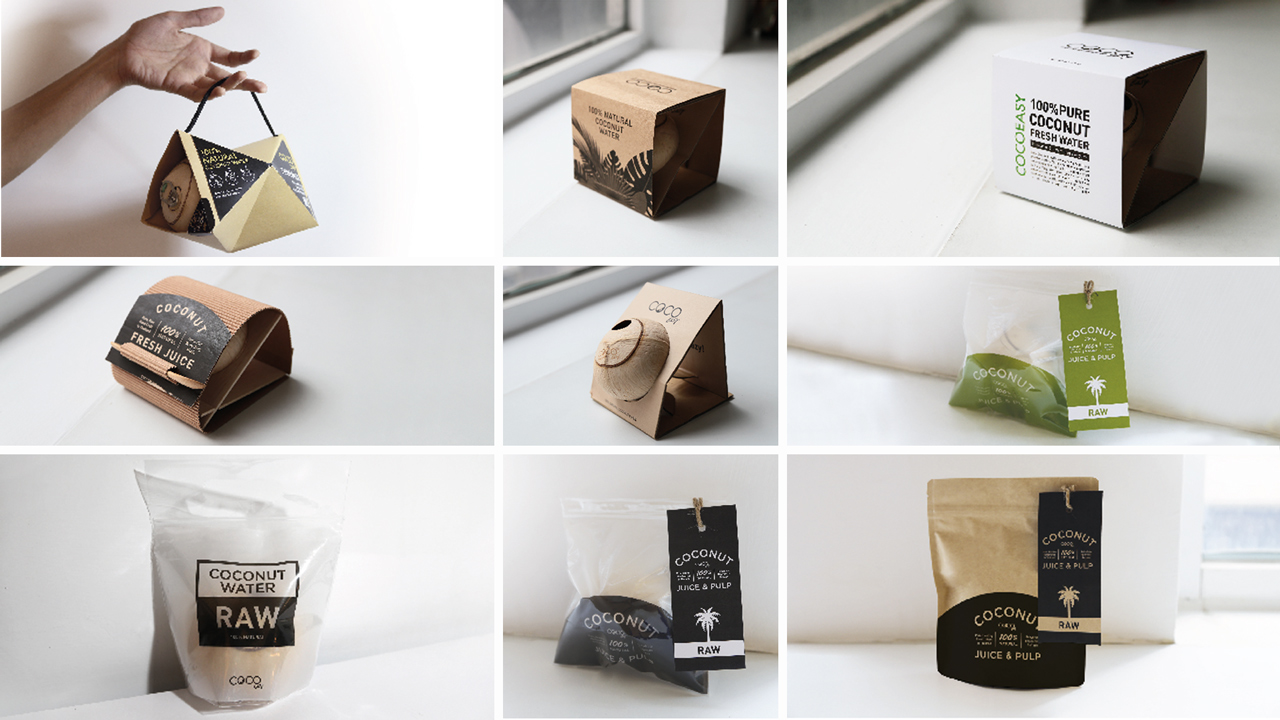 Different proposals of packaging design