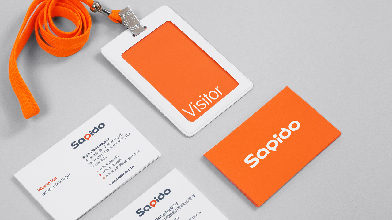 Sapido Business card and visitor badge